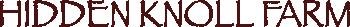 Hidden Knoll Farm Logo