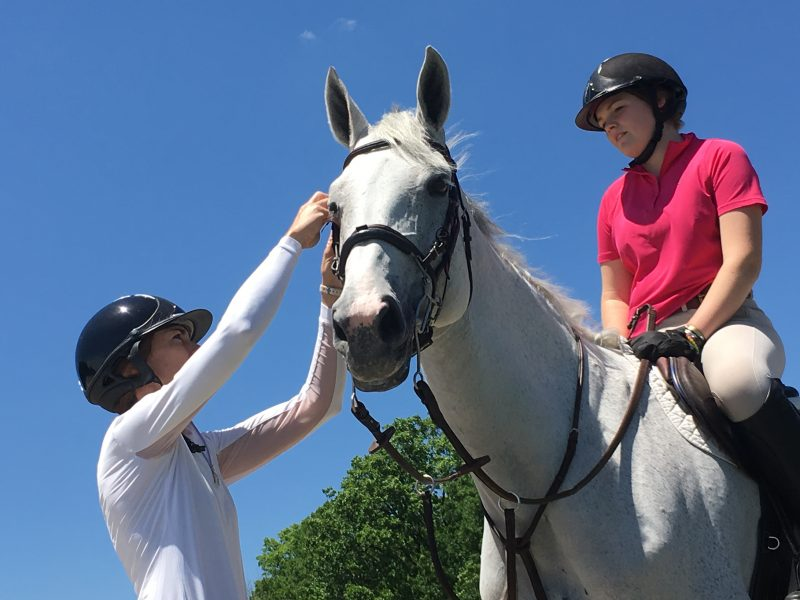 Jill Knowles & Elizabeth Lang. Photo credit: Chicago Equestrian